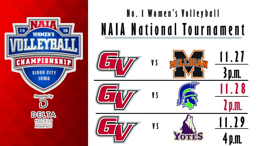 2018 NAIA Volleyball National Championship Pools Announced