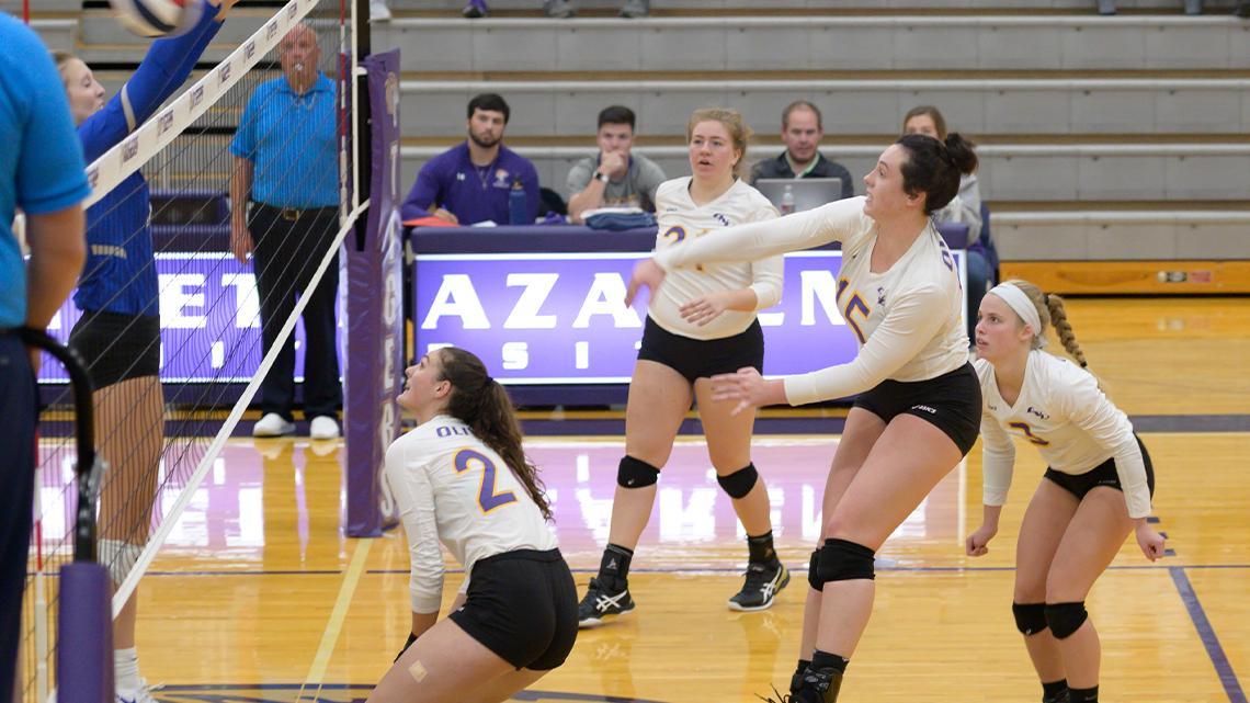 Volleyball Wins Over The University Of Saint Francis Olivet Nazarene University Illinois Athletics