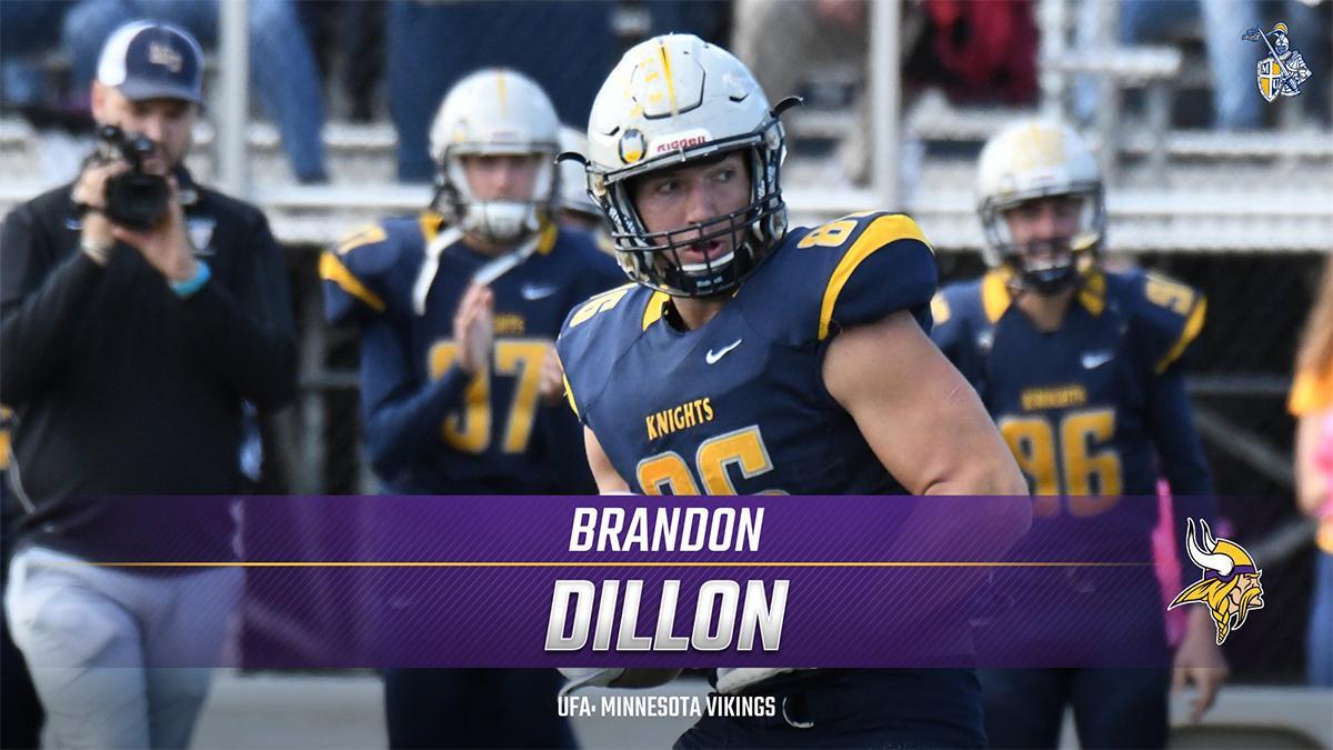 32e71a2a Brandon Dillon Signed By Minnesota Vikings | Marian University ...