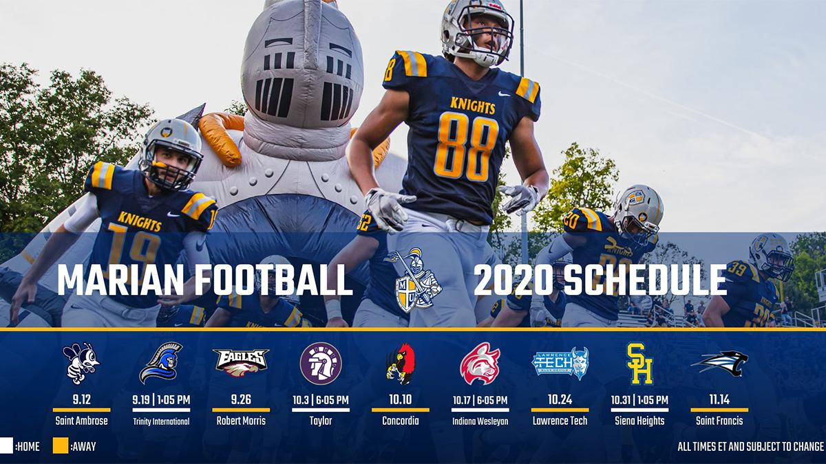 Sienaa Heights Halloween 2020 Marian Football Unveils 2020 Schedule | Marian University
