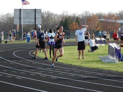 outlet store 8a0ec f8aa5 Junior Megan Egenolf won the 400-meter dash.