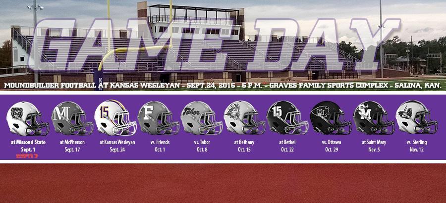 Kansas Wesleyan University >> Football Concludes Road Swing Saturday At No 20 Kansas